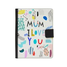 """Customised Faux Leather Universal Flip Case for 9"""" - 10"""" Tablets - Personalised with your child's artwork - Perfect gift for mums and dads by ScribbleGifts on Etsy"""