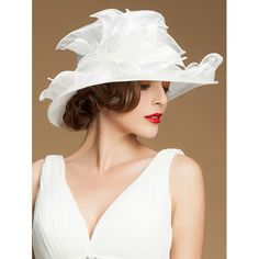 86e09e7fd0b Fomal Dress Floral Wide Brim Chiffon Sun Hat. Kathleen Atwood · Hats .