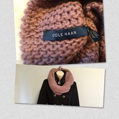 Cole Haan xtra chunky Chunky rib knit design Infinity loop constriction 70% acrylic, 30% wool Hand wash cold, lay flat to dry, bid the winter blues goodbye and emerge this season looking fabulous with this lovely Cole Haan™ neckwarmer Cole Haan Accessories Scarves & Wraps