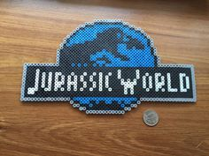 Original Custom Jurassic World Logo Magnet