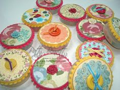 reuse empty stampin up button containers by decorating with DSP and embellishments