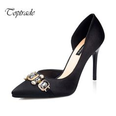 Find More Women's Pumps Information about New women pointy crystal rhinestone satin two pieces high heels design women party wedding pumps dress shoes sapatos feminino,High Quality shoes men dress,China dress up games women Suppliers, Cheap dress shoe store from Toptrade Co.,ltd on Aliexpress.com