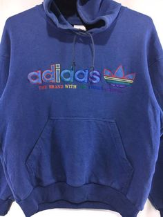 Adidas Vintage Adidas Multicolor Hoodie Sweatshirt | Grailed Adidas Vintage, Adidas Outfit, Online Marketplace, Light Jacket, Vintage Sweaters, Hoody, Etsy Vintage, Vintage Outfits, Menswear