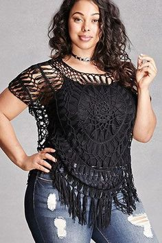 Broaden your wardrobe with Forever 21 plus size tops! Browse short and long sleeve, graphic tees, bralettes, and button-down plus size tops for women! Plus Size Fashion For Women, Curvy Women Fashion, Plus Size Womens Clothing, Clothes For Women, Womens Fashion, Size Clothing, Looks Plus Size, Curvy Plus Size, Plus Size Model