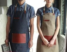 Quality Art Jean Apron for Coffee Bar or Painting Artist Cook Carpenter Weeding Apron or . DO WHAT YOU WANT with free worldwide shipping on AliExpress Mobile Cafe Uniform, Waiter Uniform, Hotel Uniform, Chef Dress, Clothes Words, Jean Apron, Restaurant Uniforms, Apron Designs, Leather Apron
