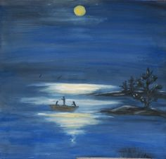Fishing in the moonlight!
