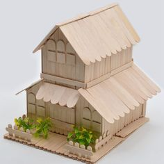 popsicle stick log cabin - Recherche Google