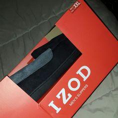MEN'S IZOD SLIPPERS NEW IN BOX, MEMORY FOAM XXL SLIPPERS (MEN'S SIZE 13) (WOMEN'S SIZE 11) IZOD Shoes