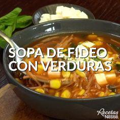 This option will be your best ally for your child to eat vegetables 🥦 F FIDEOS SOUP with VEGETABLES! Easy Soup Recipes, Veggie Recipes, Mexican Food Recipes, Vegetarian Recipes, Healthy Recipes, Keto Recipes, Healthy Cooking, Cooking Recipes, Salvadorian Food