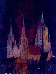 'München St. Paul' von Marie Luise Strohmenger bei artflakes.com als Poster oder Kunstdruck $19.41