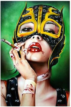 Many faces by Brian Viveros