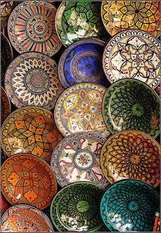Moroccan crockery.
