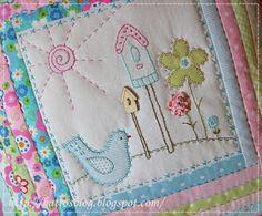 inspiration only blog not in english.  beautiful colours and i love bird houses!  Môj ružový vesmír...: Lynette vo farbe