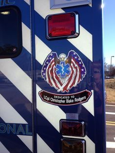 New ambulance dedicated to our Hero Blake.   <3