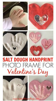 Valentine's day craft for kids, handprint craft for toddlers, mother's day gift grandparent's gift. Valentine's git ideas