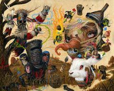 Mark Brown Mark Brown, Brown Art, Pop Surrealism, Macabre, Fascinator, Scary, Cool Art, Artist, Cute