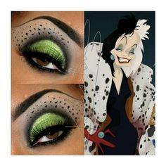 This Pin was discovered by Jane Montoya. Discover (and save!) your own Pins on Pinterest. | See more about Cruella Deville, Eye Makeup and Makeup.