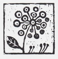 simple lino cut - kind of a drawing. Certainly started out that way