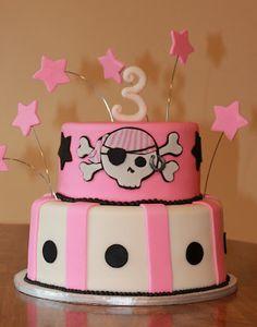 Pink Pirate Cake