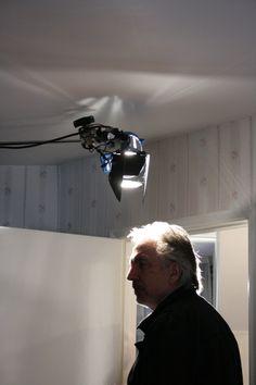 Alan Rickman filming 'Dust'