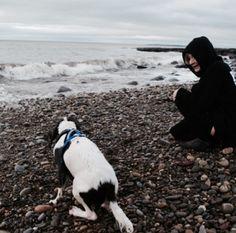 Leo and his dog, Yuki