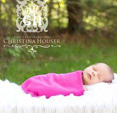 Gauze Newborn Baby Wrap Hot Pink by BeautifulPhotoProps on Etsy, $10.00