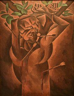 Bohumil Kubišta (Czech 1884– 1918) [Cubism, Expressionism, Osma (The Eight)] St. Sebastian, 1912. National Gallery in Prague .