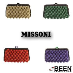 Pochette primaverili per essere originali ed elegantissime a ogni evento! Qual è la #MISSONI che preferite? http://www.beenfashion.com/it/m-missoni-pochette-rafia.html?utm_source=pinterest.com&utm_medium=post&utm_content=missoni-pochet-rafia&utm_campaign=post-prodotto