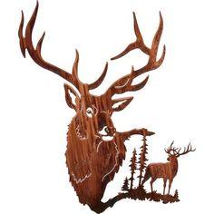 Elk Summit Metal Wall Art at Cabelas