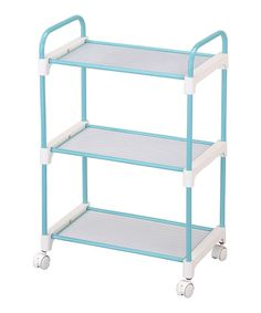 Look at this Light Blue Three-Tier Utility Cart on #zulily today!