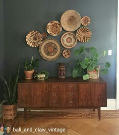 Home Interior Decoration .Home Interior Decoration Boho Living Room, Home And Living, Living Room Decor, Dining Room, Cheap Home Decor, Diy Home Decor, Interior Decorating, Interior Design, Baskets On Wall