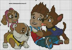 PAW PATROL  PATTERN  CROSS STITCH by syra1974.deviantart.com on @DeviantArt