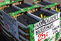 farmers market finland | blueberries for sale in Tampere Finland