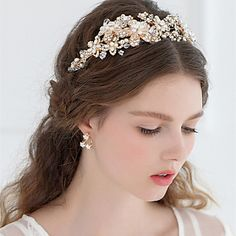 Women+Rhinestone+Metallic+Flower+Headbands+With+Wedding/Party+Headpiece+–+USD+$+44.99