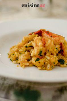 Une recette de plat festif à cuisiner avec un Thermomix : le risotto de homard. #recette#cuisine#risotto #homard #robot #robotculinaire #thermomix Robot, Cooking Recipes, Cooking Food, Meal, Lobster Bisque, Fine Dining, Thermomix, Robots