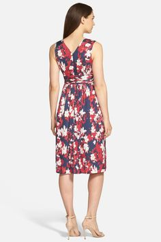 Print Stretch Silk Surplice Dress by Classiques Entier on @nordstrom_rack