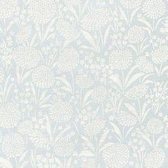 Schumacher Chrysanthemum Sisal Sky Wallpaper - Trade - Schumacher Chrysanthemum Sisal Sky Wallpaper / CHRYSANTHEMUM SISAL / SKY