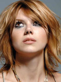 red hair, blonde highlights