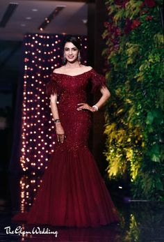 """May 2020 - Explore weddingsonlyin's board """"Bridal Cocktail Gowns Indian Wedding Gowns, Party Wear Indian Dresses, Designer Party Wear Dresses, Indian Gowns Dresses, Indian Bridal Outfits, Indian Designer Outfits, Bridal Dresses, Wedding Reception Outfit, Reception Gown"""