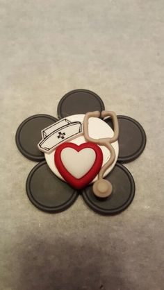 Nursing ID Badge Holders made from recycled medicine vials caps - Nursing Trinkets