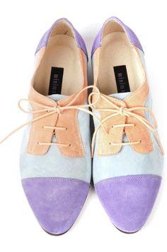 Friggin' pastel, suede oxfords. My prefect casual shoe.