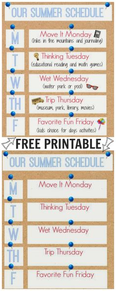 Kids are out of school for the summer, now what? Keep them busy and having fun with my Summer Schedule, yours to print for FREE!