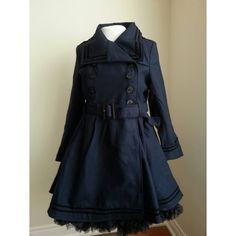 Navy Millie Coat - Plus Sizes by Hell Bunny.  #Retro #HellBunny #Nautical #CurvyFashion #BBWFashion #PInUp