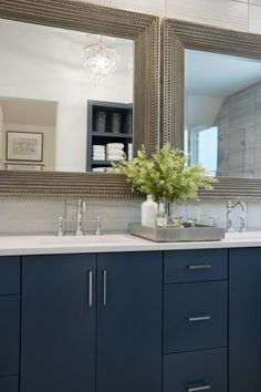 hgtvcom showcases the double vanity from the hgtv smart home master bathroom