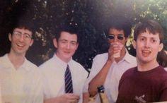 young John Oliver, David Mitchell and Richard Ayoade at University David Mitchell, Mitchell And Webb, Uk Comedians, English Comedians, Richard Ayoade, John Oliver, Peep Show, Julian Barratt, Matt Berry