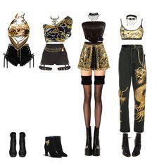 Fashion set Blackpink Ulzzang Fashion, Blackpink Fashion, Kpop Fashion Outfits, Stage Outfits, Girly Outfits, Dance Outfits, Cute Casual Outfits, Cute Fashion, Stylish Outfits