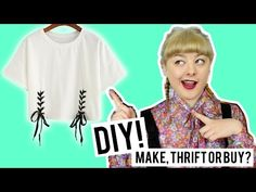 DIY Lace Up Top | Make Thrift Buy #40 - YouTube