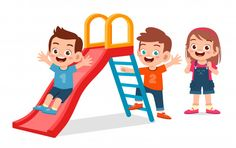 Happy cute kid boy and girl play slide t. Boy And Girl Cartoon, Boy Or Girl, Cartoon Pics, Cartoon Styles, Art Drawings For Kids, Art For Kids, Happy Children's Day, Baby Illustration, Cute Clipart