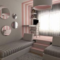 139 Wonderful Modern Small Kids Bedroom Inspirations - Home Decorations Ideas Dream Rooms, Dream Bedroom, Girls Bedroom, Bedroom Decor, Bedroom Ideas, Bedroom Furniture, Teen Bedroom Colors, Kid Bedrooms, Girl Rooms