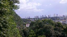 Vista do alto da UTP, Barigui.
